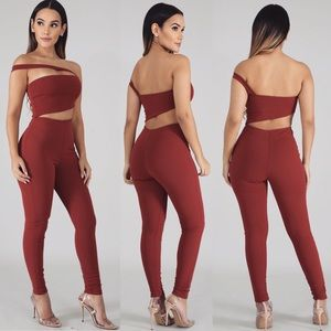 Pants - Women's Sexy Jumpsuit with cut outs